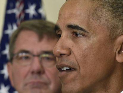 O presidente Barack Obama e seu secretário de Defesa, Ashton Carter