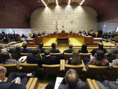 O plenário do Supremo Tribunal Federal em sessão no último dia 03.