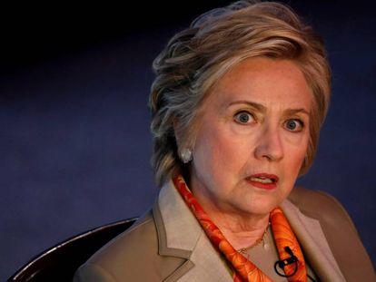 Hillary Clinton durante evento em Nova York em 2 de maio passado.