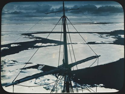 Panorama do mar de Weddell, na Antártida, em uma fotografia de data desconhecida.