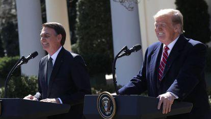 Reunião de Jair Bolsonaro e Donalda Trump nos Estados Unidos.