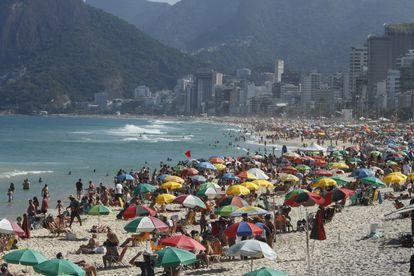 Praia de Ipanema, no Rio de Janeiro, no dia 25 de julho de 2021.