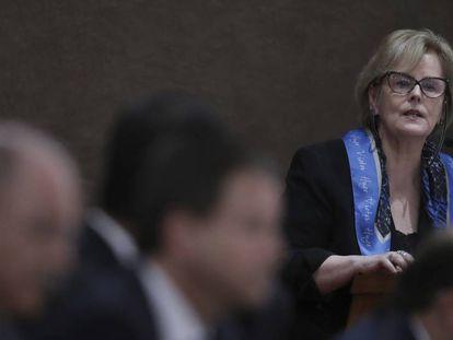 A ministra Rosa Weber, do TSE, no dia 21.