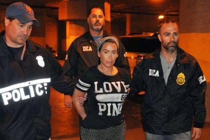 Foto feita durante a detenção de Samantha Barbash.