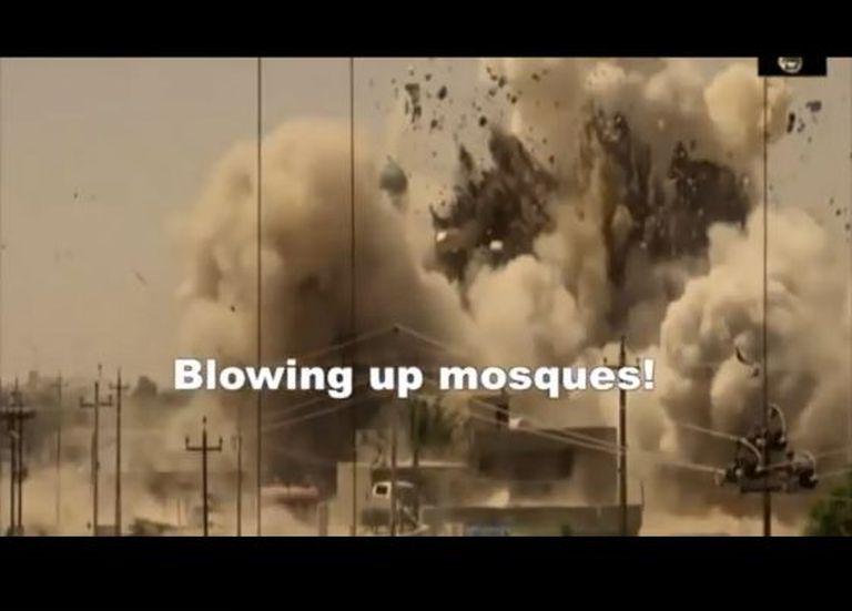 Fotograma do vídeo dos EUA sobre as atrocidades do EI.
