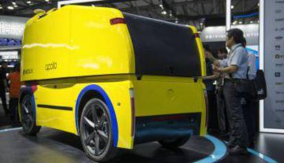 O veículo autônomo de distribuição Neolix foi desenvolvido a partir da plataforma de código aberto Apollo, do Baidu, e já está em teste.