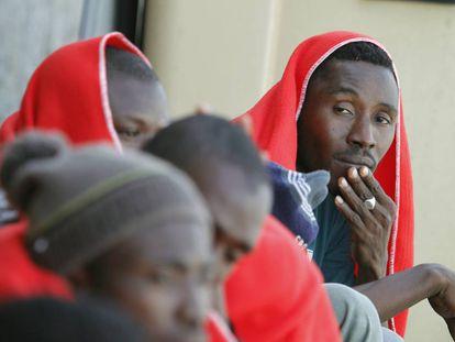 Resgate de imigrantes no fim de junho em Tarifa.