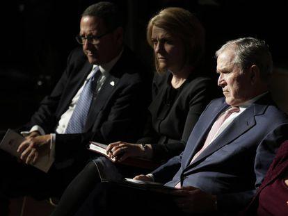 O ex-presidente George W. Bush, no ato de Nova York.