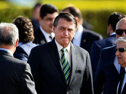O presidente Jair Bolsonaro participa de cerimônia no Palácio do Alvorada no dia 27 de outubro.
