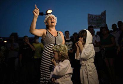 Protesto em Itu na terça contra a falta d'água.