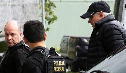 O ex-ministro Guido Mantega durante prisão no âmbito da Lava Jato.