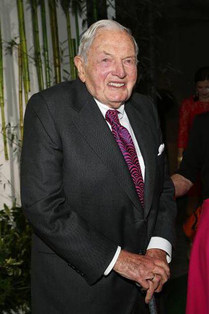 O milionário David Rockefeller.