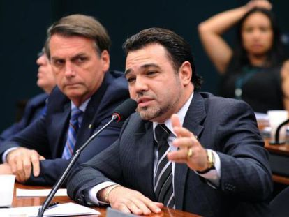 Bolsonaro (PP) e Feliciano (PSC), na Câmara dos Deputados.