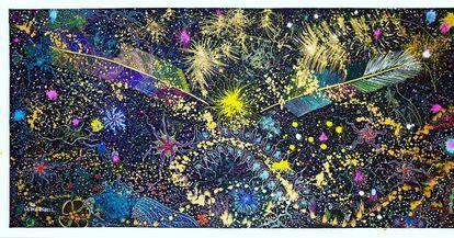 'De onde surgem os sonhos', obra de Jaider Esbell.