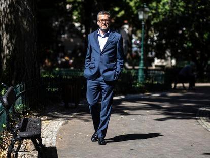 Carlos Moedas, novo prefeito de Lisboa, no Jardim das Amoreiras, no final de setembro.