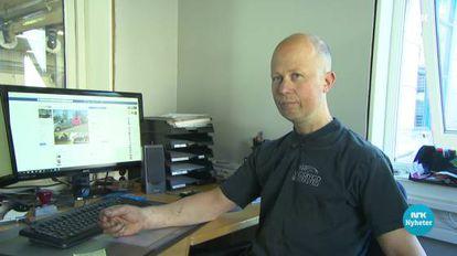 O dono da oficina fala no jornal da rede de televisão norueguesa NRK.