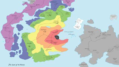 O mapa do botão
