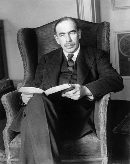 John Maynard Keynes em sua casa em Londres em 1º de janeiro de 1929.