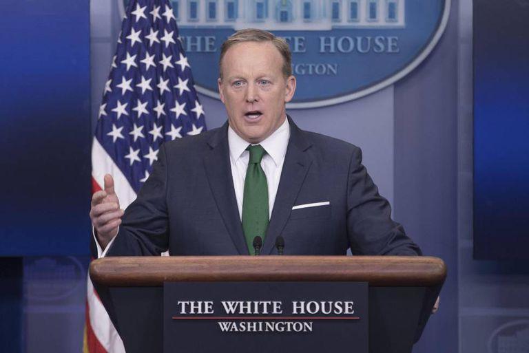O porta-voz da Casa Branca, Sean Spicer.