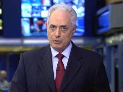 O jornalista William Waack, afastado do Jornal da Globo após fala racista.