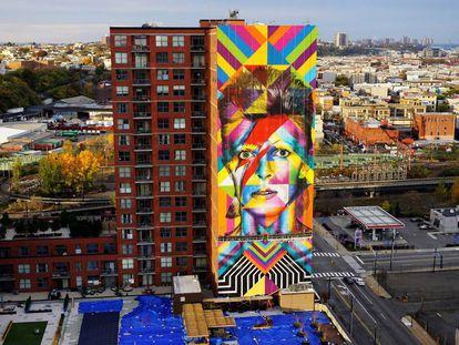 Grafite feito pelo brasileiro em Nova Jersey, nos Estados Unidos recém finalizado.