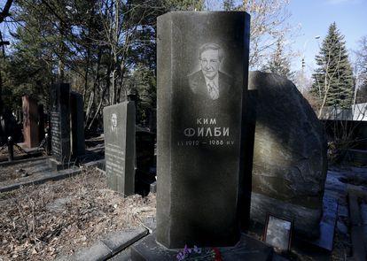 Túmulo de Kim Philby em Moscou, em imagem de 2016.