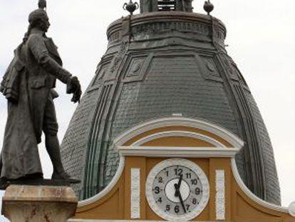 Relógio do Congresso, na praça Murillo em La Paz.