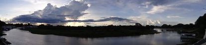 Vista do Rio Paraguai, em Cáceres (MT).