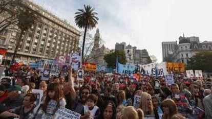 Mobilização para exigir o aparecimento de Maldonado, em 1 de setembro