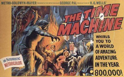 Cartaz do filme de George Pal sobre 'A máquina do tempo', de H. G. Wells.