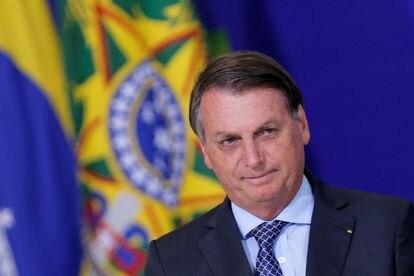 Bolsonaro durante cerimônia no Palácio do Planalto.