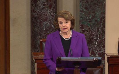 Presidenta do Comitê de Inteligência do Senado, Dianne Feinstein.