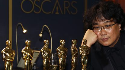 Bong Joon Ho, o grande vencedor da noite.