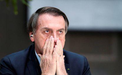 O presidente Jair Bolsonaro, nesta quinta-feira, na Argentina.