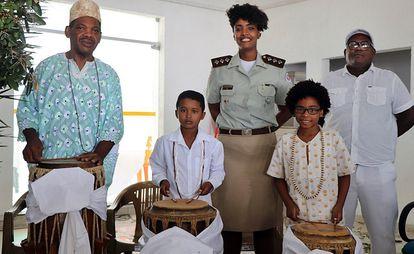 Capitã Thais Trindade em atividade cultural do Nafro.