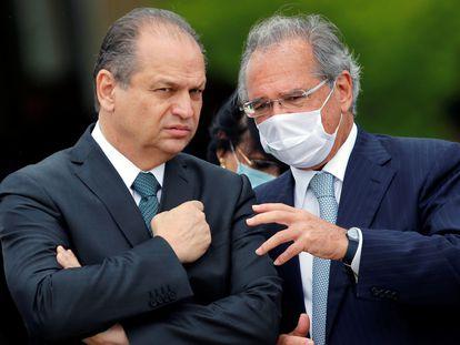 Ricardo Barros e o ministro da Economia, Paulo Guedes.