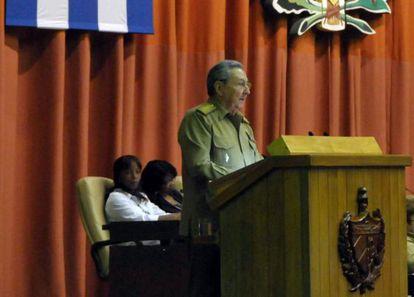 Raúl Castro durante o anúncio da abertura econômica de Cuba EFE/Archivo