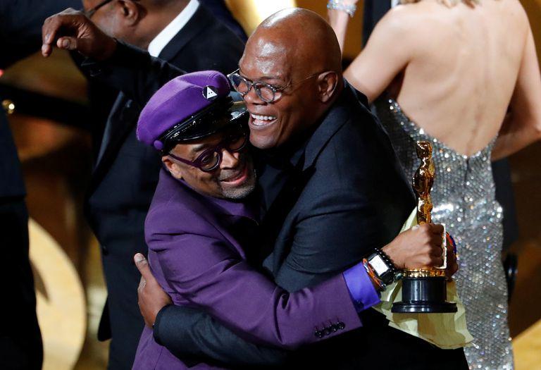 Spike Lee recebe seu primeiro Oscar por 'Infiltrado na Klan', na 91ª edição do prêmio, em 24 de fevereiro de 2019, em Los Angeles. Lee boicotou a cerimônia de 2016 devido à falta de diversidade da premiação.