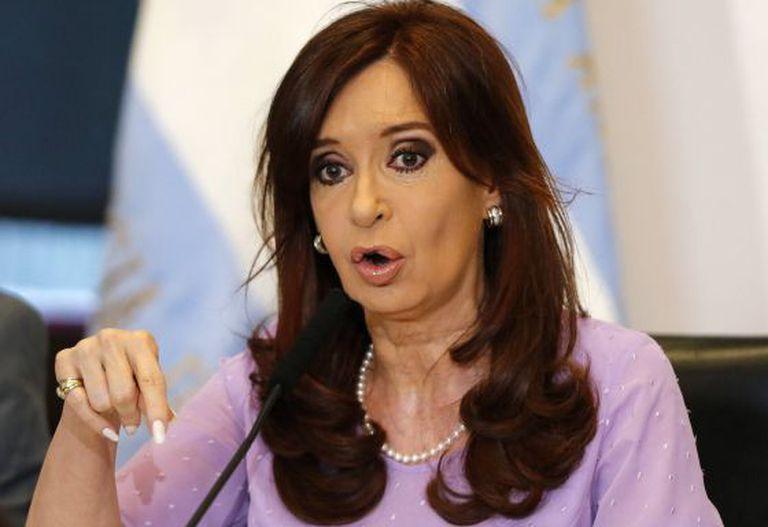 Cristina Kirchner, em 11 de fevereiro de 2015.
