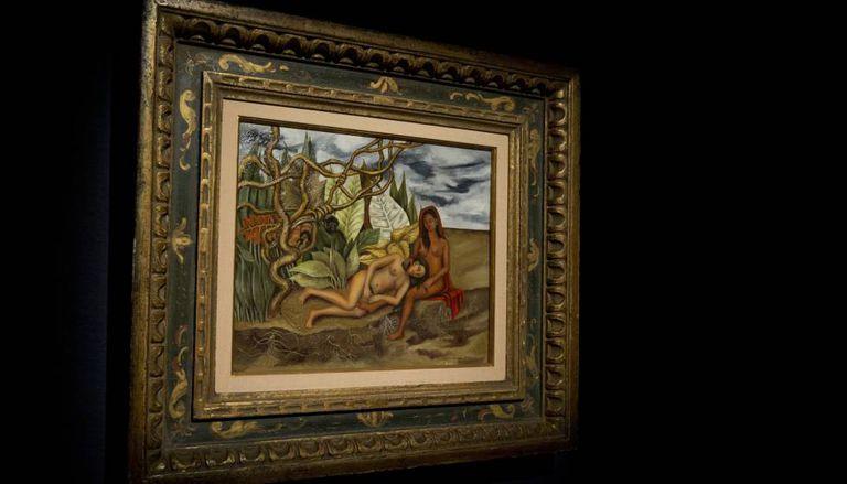 O quadro de Kahlo, 'Dois Nus na Floresta', na Christie's.