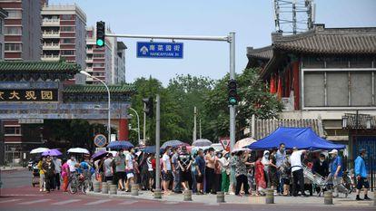O mercado de Xinfadi, onde começou o surto na capital chinesa.