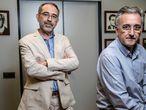 Borja Quintana y Antonio Planas, presidente de la Sociedad Madrileña de Anestesia y secretario general de la Sociedad Española de Anestesia.