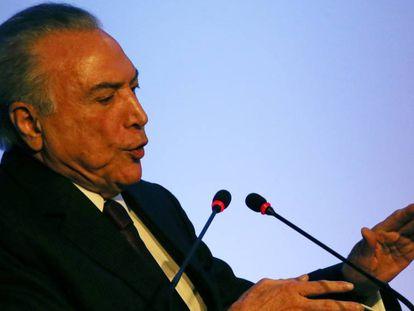 Michel Temer discursa na Câmara Americana de Comércio Brasil - Estados Unidos.