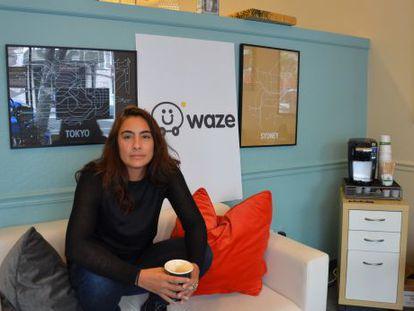 Di-Ann Eisnor na antiga sede do Waze, em Palo Alto.