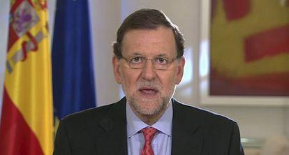 Mariano Rajoy, durante o pronunciamento sobre o referendo escocês.