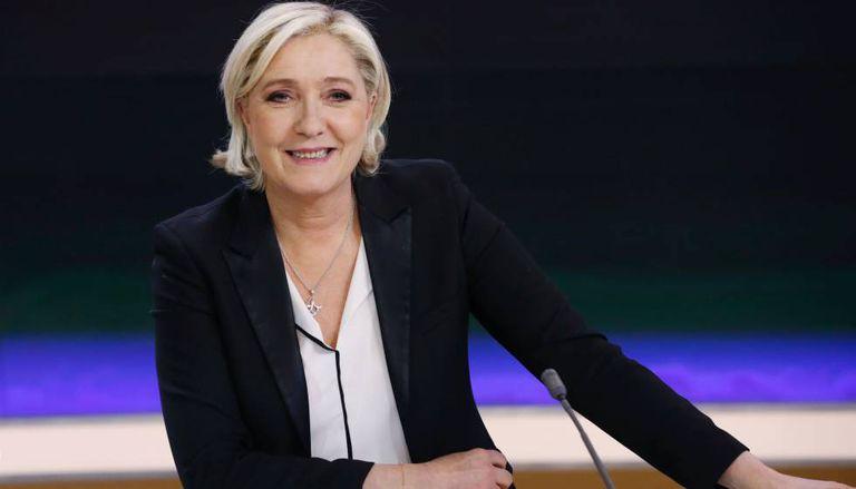 Marine Le Pen nesta segunda-feira, antes da entrevista na TV France 2.