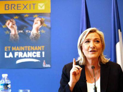 Marine Le Pen, nesta sexta-feira.
