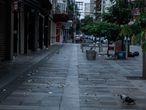 Ruas do calçadão de Ribeirão Preto sem movimento devido ao lockdown/Foto Ricardo Benichio