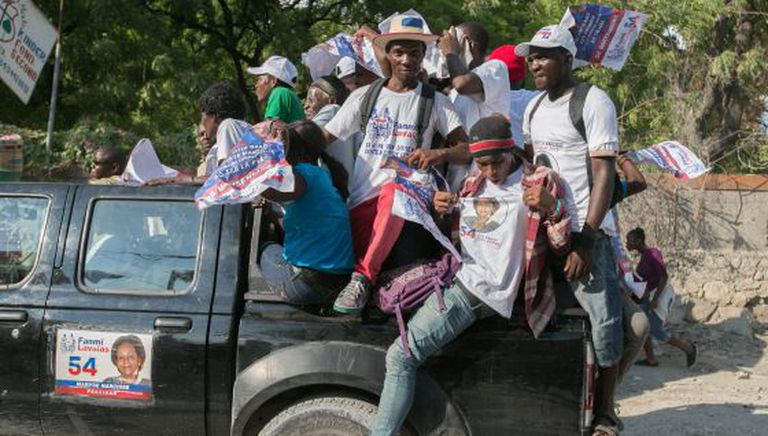 Campanha eleitoral no Haiti.