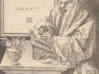 Erasmo de Roterdã, retratado em obra de Alberto Durero de 1526.
